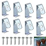 "Cheap Sumnacon Flower Pot Clips, 8 Pcs Hard Steel Durable Plant Pot Latch Hangers Hook, Holds 5"" to 8"" Clay PotS, Terra Cotta Pots with A Lip Around The Edge (Silver)"