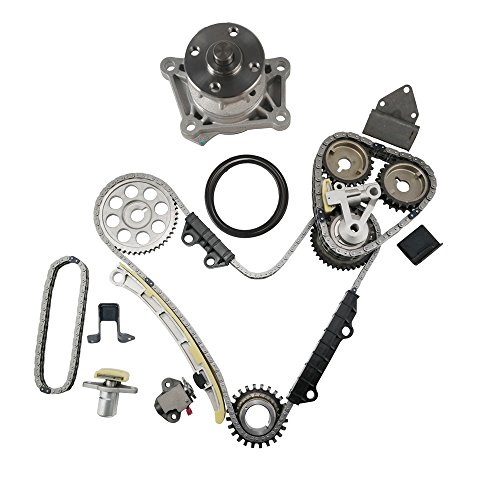 MOCA Timing Chain Kit & Water Pump Kit for 1999-2006 Suzuki Grand Vitara XL7 & 2001-2004 Chevrolet Tracker 2.5L V6 DOHC 24 Valve H25A H27A