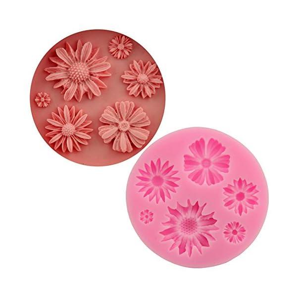 Hacoly Stampo in silicone a forma di girasole, per torte, biscotti, mould, cioccolato, sapone fatto a mano, gelato… 7 spesavip