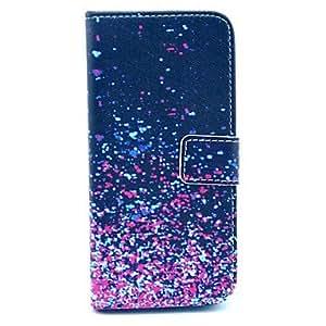 ZXM- patrón fragmento púrpura cubierta de cuero de la PU con el soporte y la ranura para tarjeta para el iphone 6 más
