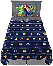 Franco Kids Bedding Soft Sheet Set, 3 Piece Twin Size, Super Mario