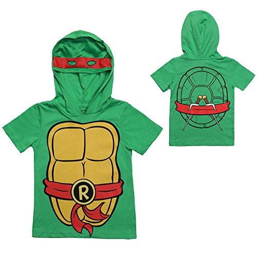 [TMNT Teenage Mutant Ninja Turtles I Am Raph Costume Tee Hoodie (Boys 7X/8)] (Raphael Kids Costumes Hoodie)
