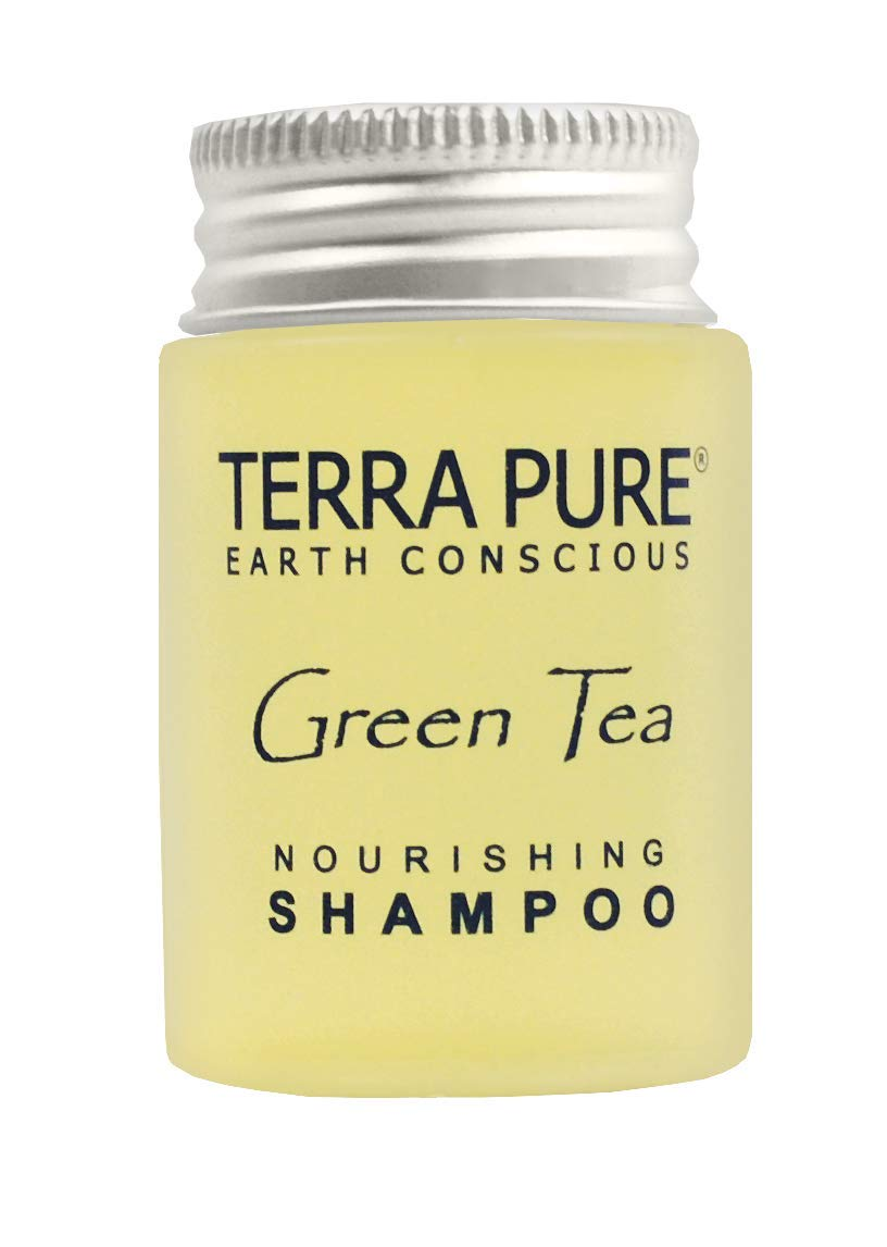 Terra Pure Shampoo, Travel Size Hotel Amenities, 1 oz. (Case of 300)