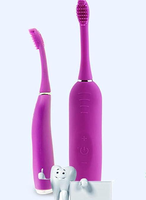 Los niños de cepillo de dientes eléctrico adultos silicona nano ultrasonido  engranaje dientes eléctricos cepillo de d880ff4be190