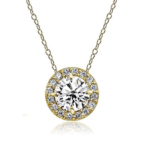 Round Yellow Sapphire Pendant - 9