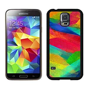 Case For Galaxy S5,Note Colorful Wall Pattern Black Samsung Galaxy S5 i9600 Case