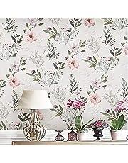 "17.7""*236.2"" Small floral Pattern Wallpaper rural Style Waterproof Sticker Wallpaper Girls room Natural Wind Wallpaper"