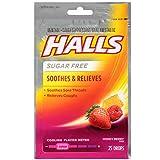 Halls Mentho-Lyptus Drops Sugar Free Honey-Berry 25 Each (Pack of 12)