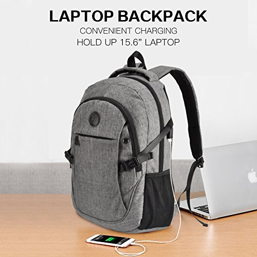 High School Backpack, 15.6'' College Business Travel Laptop Backpack by EASTERN TIME by EASTERN TIME (Image #2)