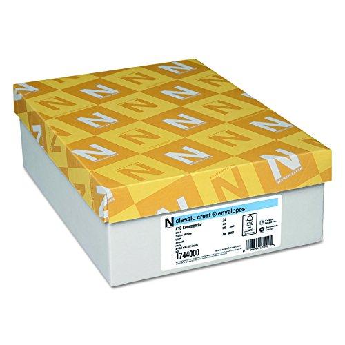 Envelopes Classic Crest Paper - Neenah Paper 1744000 Classic Crest #10 Envelope, 4 1/8 x 9 1/2, Solar White (Box of 500)