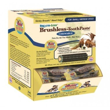 Chewable Toothpaste Brushless (Ark Naturals Breath-Less Brushless-ToothPaste - Chewable - Small to Medium Dogs - Case of 60)