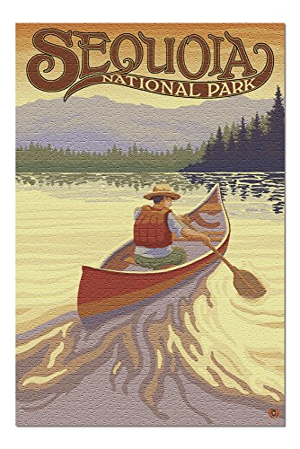 (Sequoia National Park - Canoe Scene (20x30 Premium 1000 Piece Jigsaw Puzzle, Made in USA!))