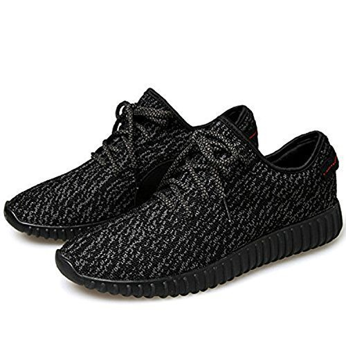 TiAnge Mens Womens Unisex Couple Casual Fashion Sneakers Breathable Athletic Running Shoes Black 41