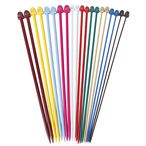 Multicolor Plastic Knitting Needles Pointed