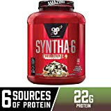 BSN Syntha-6 Whey Protein Powder, Cold Stone Creamery - Mint Mint Chocolate Chocolate Chip Flavor, Micellar Casein, Milk Protein Isolate Powder, 44 Servings