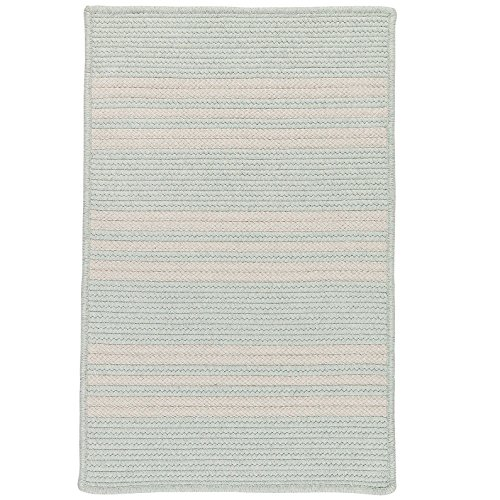 Sunbrella Southport Stripe UH69SAMPLES Sample Swatch Rugs, 14 x 17, Sea Green