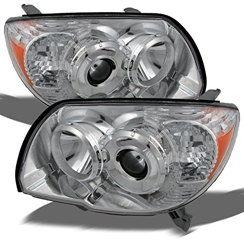Toyota 4Runner Chrome OE Replacement Headlights Driver/Passenger Amber Head Lamps (Replacement Headlight Driver)