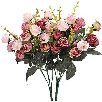 Amazon Houda Vintage Artificial Peony Silk Flowers Bouquets