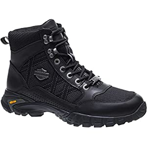 Harley-Davidson Men's Stark 5-In Leather/Mesh Motorcycle Boots D96158 (Blk, 12)