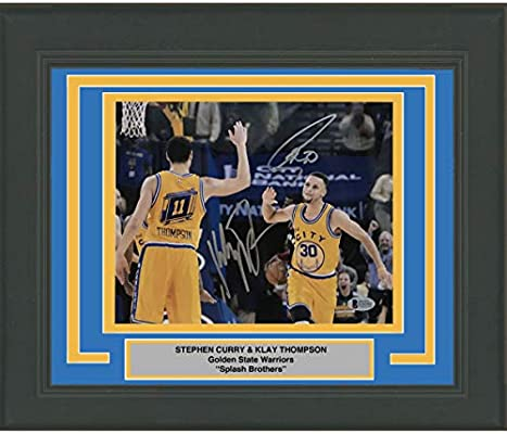 535c4458109 Framed Autographed Signed Stephen Steph Curry   Klay Thompson Splash  Brothers Bros 8x10 Basketball Photo Beckett BAS COA