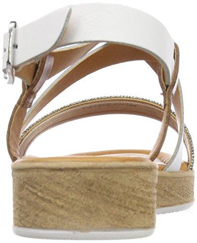Tamaris Damen 28606 Slingback Sandalen Weiß (White Comb)