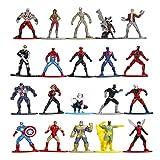 Jada Toys Marvel Nano METALFIGS 20-Pack Wave 1 Die-Cast Figures, 1.65...