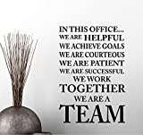 In this Office we achieve goals we work we are a TEAM Classroom sport football cute inspirational family love vinyl quote saying wall art lettering sign room decor