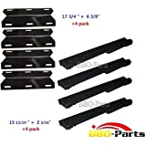 Hongso Jenn Air Gas Grill Repair Kit Replacement Grill Heat Plate and Burner - 4 Pack (CBF301, PPA231)