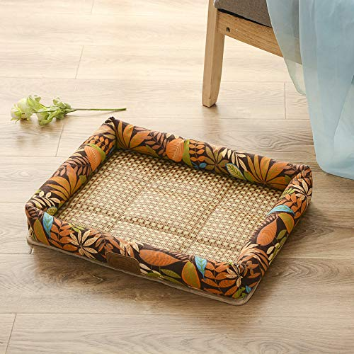 BOZHILIN Summer Kennel Cat Litter Dog Bed Cat Bed Breathable MoistureResistant Dirt Washable Large Dog Medium Dog Small Dog Universal Brown Xl (62Cmx75Cm)