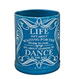 jar candle warmer electric - Elanze Designs Life Learning Dance in The Rain Blue Stoneware Electric Jar Candle Warmer