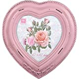 """Chic Wooden Photo Picture Frame Pink Heart Vintage Victorian Antique Style 4x4"""""""