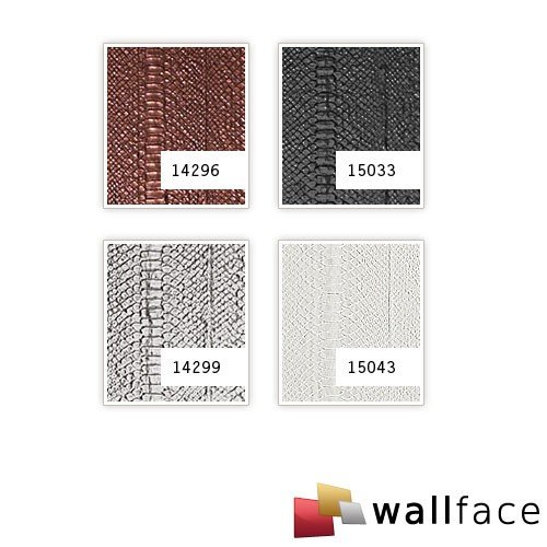 WallFace 15043 SNAKE Wall panel leather 3D interior wall decoration luxury wallcovering self-adhesive white | 2,60 sqm by Wallface (Image #2)