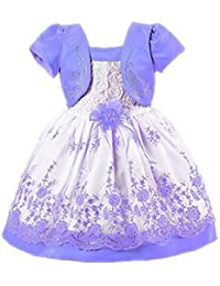 Little Girl Baby Special Occasion Flower Cotton Dress Size 1 to 7Y