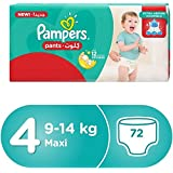 Pampers Pants Diapers, Size 4, Jumbo pack - 9-14 kg, 72 Count