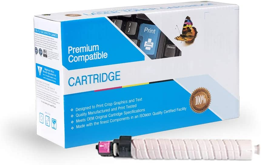 Works with: Aficio MP C2000 MP C2500 MP C3000 Magenta On-Site Laser Compatible Toner Replacement for Ricoh 888638