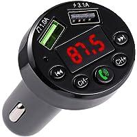 Garneck Mini reprodutor de música para carro, reprodutor de MP3, carregador veicular de chamadas viva-voz, kit receptor…