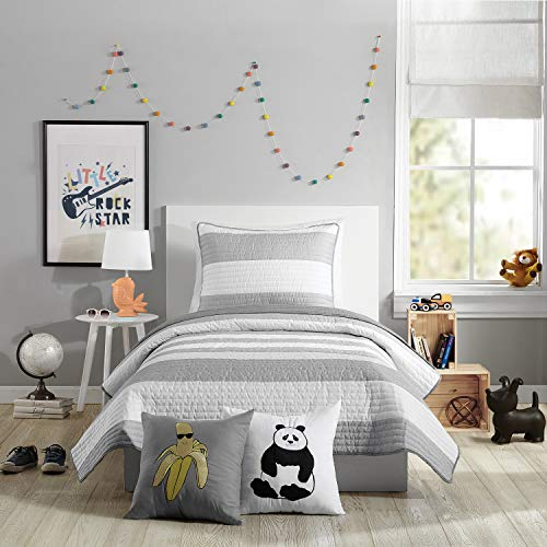 Urban Playground Lavelle Quilt Set, Twin, Grey (Gray Quilt Twin)