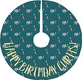 RNK Shops Animal Friend Birthday Tree Skirt (Personalized)