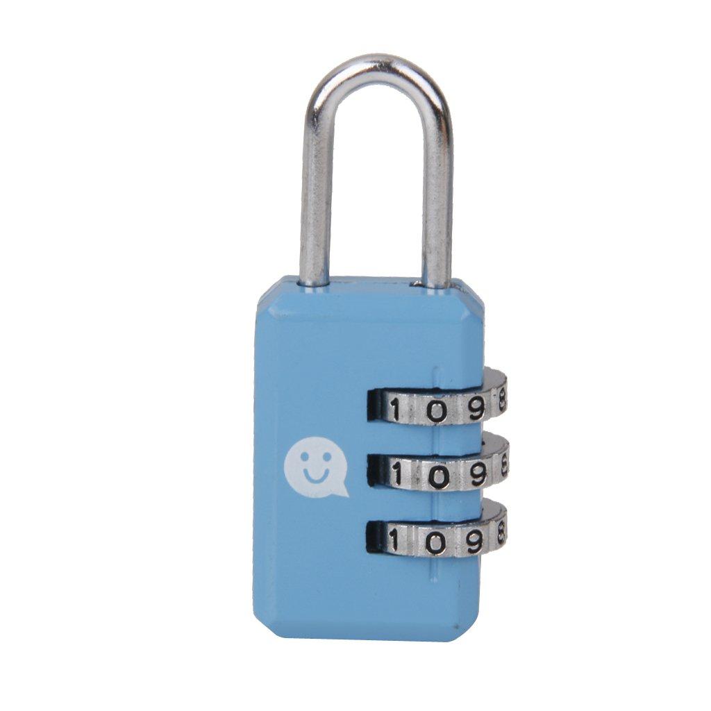 Bleu Cadenas Serrure /à Combinaison /à 3 Chiffres Serrure /à Code de Bagage