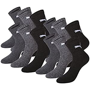 PUMA 12 pair Sport Socken Short Crew Tennis Socks Gr. 35-49 Unisex