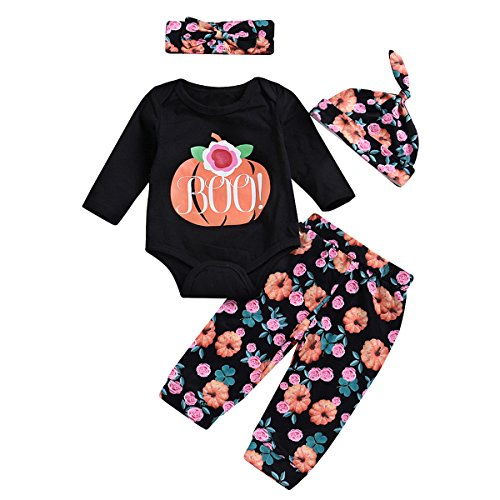 Set Of Three Halloween Costumes - Newborn Baby Halloween Set Floral Romper