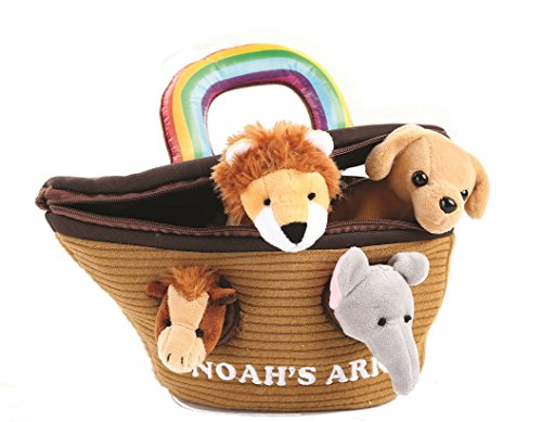 Animal House Noah's Ark Plush Animals Sound Toys With Carrier | Plush Animal Toy Baby Gift | Toddler Gift ()
