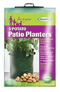 Tierra Garden 50-1040 3-Pack Haxnicks Potato Patio Planter