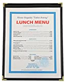 Single View Flexible Leatherette Menu Cover, 8½x11, Black