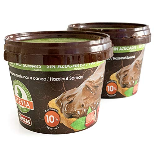 Torras Sugar and Gluten Free Hazelnut Spread sweetened with maltitol and Stevia - 2 Pack (7 oz. each)