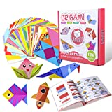 Gamenote Colorful Kids Origami Kit 118 Double Sided Vivid Origami Papers 54 Origami Projects 55 Pages Instructional Origami Book Origami for Kids Adults Beginners Trainning and School Craft Lessons (Tamaño: 118 sheets)