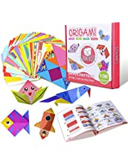 Gamenote Colorful Kids Origami Kit 118 Double Sided Vivid Origami Papers 54 Origami Projects 55 Pages Instructional Origami Book Origami for Kids Adults Beginners Trainning and School Craft Lessons