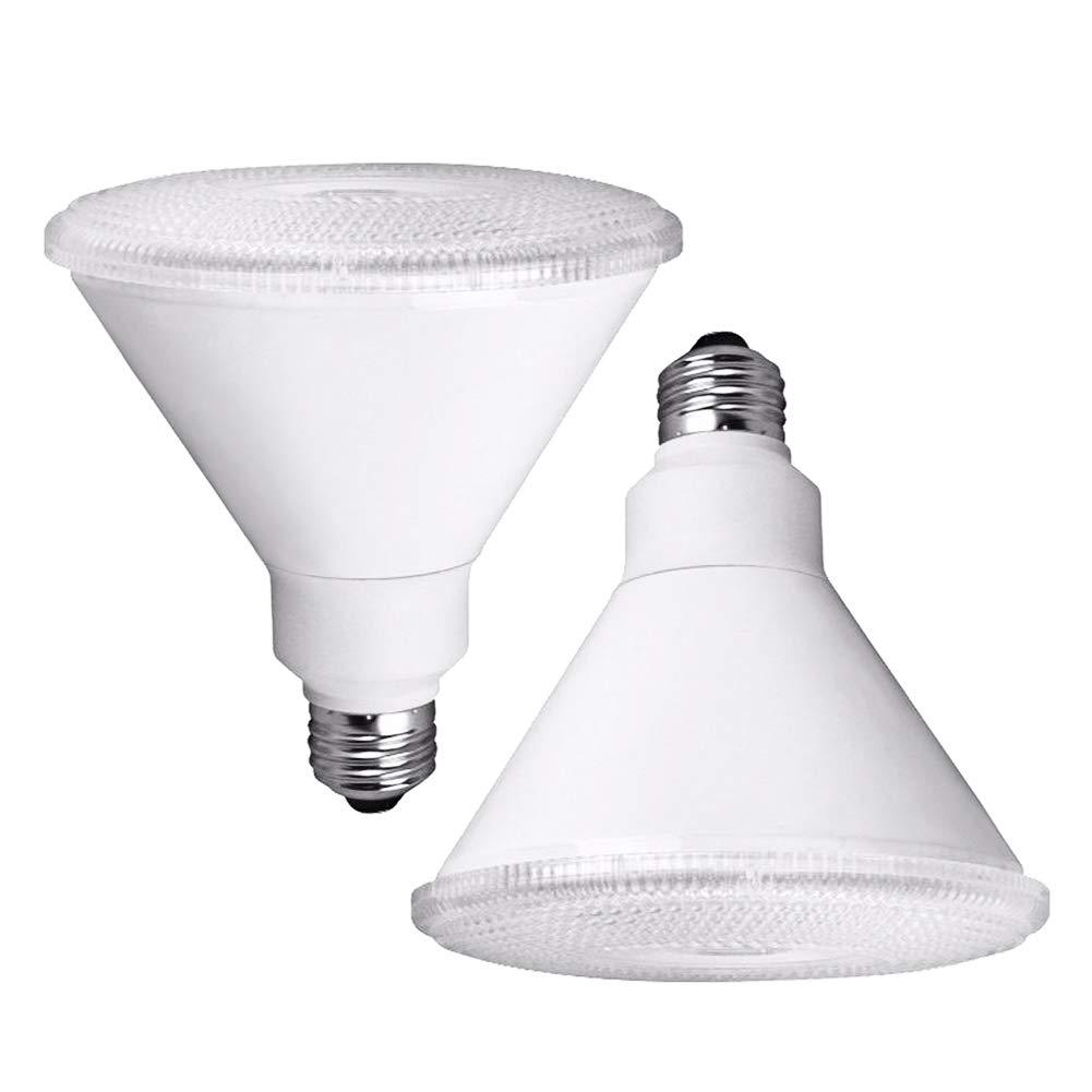 BESLAM PAR38 Flood Light Bulb Dimmable,E26 Base 17W(150W Equiv.),2700K Warm White LED Spotlight Lamp,2 Per Case