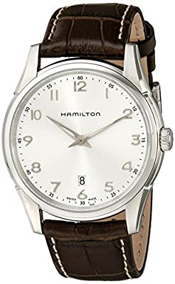 Hamilton Men's H38511553 Jazzmaster Thinline Silver Dial Watch