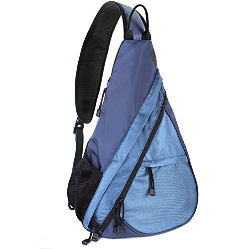 Shoulder Chest Crossbody Sling Bag Pack Backpack for Men Women Girls Boys (Blue) (Lady Trail Saddle)